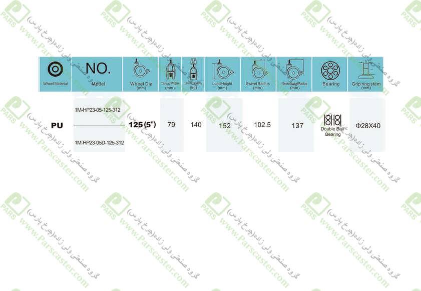 1M HP23 05D 125 312 J - 1M-HP23-312-ترمزدار-پیچی-(S254)