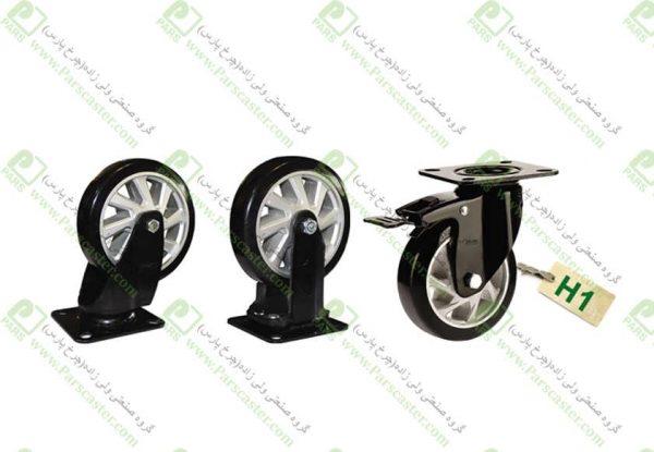 انواع چرخ پایه مشکی