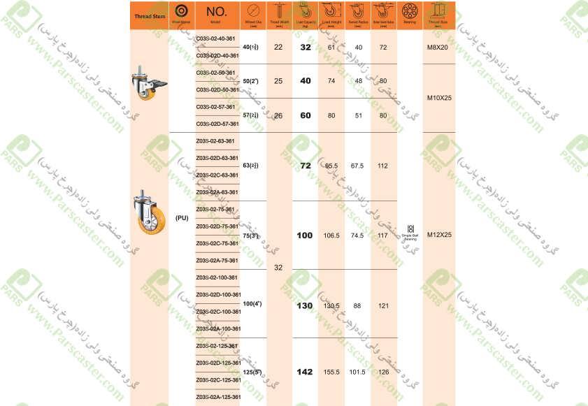 S109 J - Z03S-361-پیچی-(S109-S111-S113)