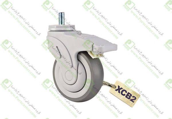 XCB2 600x415 - چرخ تمام پلاستیکی طرح تنته ترمزدار